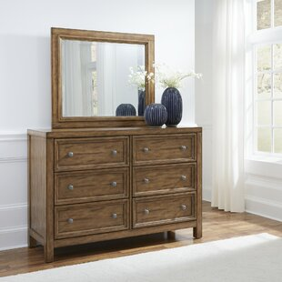Milford 6 Drawer Double Dresser with Mirror