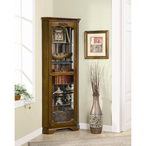 Darrens Corner Curio Cabinet by Alcott Hill