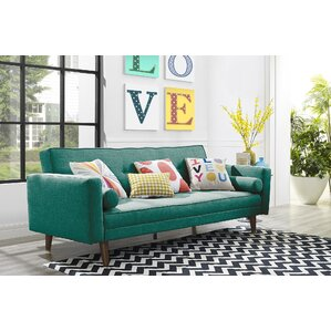Novogratz Vintage Mix Convertible Sofa by Novogratz