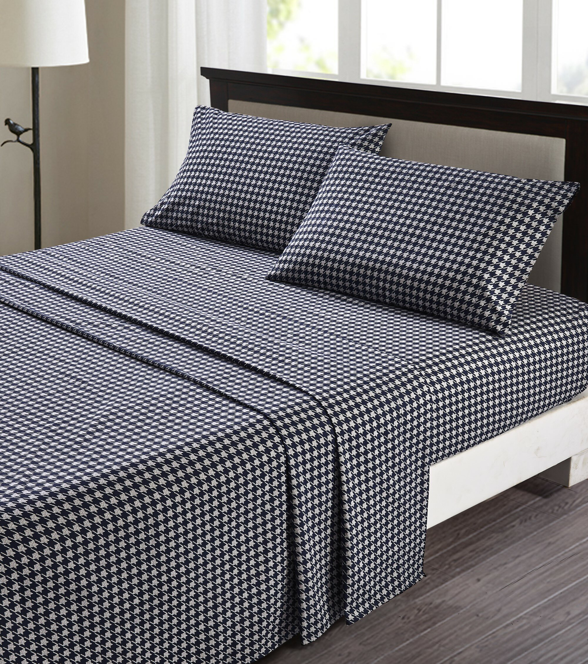 300 Thread Count Reversible 100/% Cotton Duvet Set W// Fitted sheet Twin Size