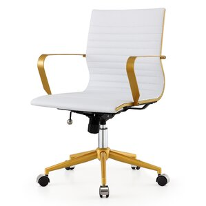 midback vegan leather office chair