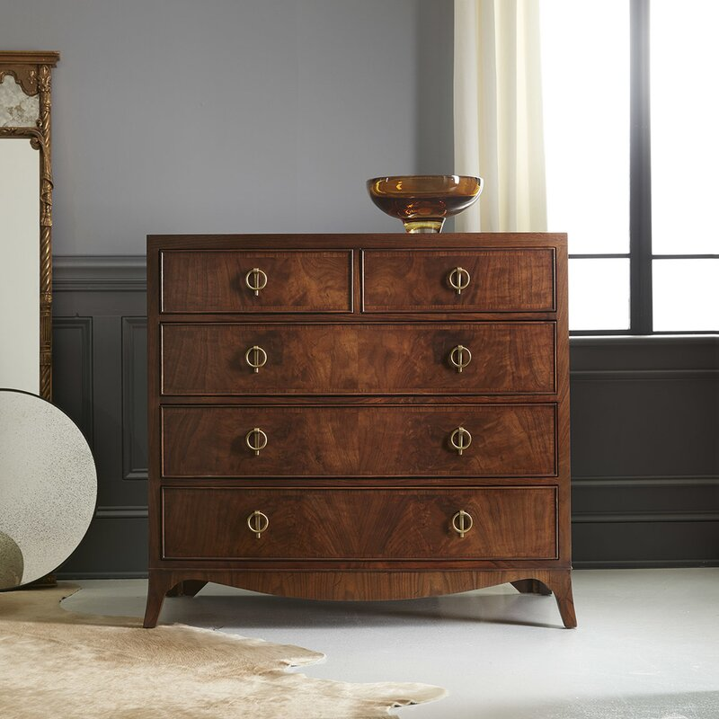 Modernhistory Bowfront 5 Drawer Accent Chest Perigold