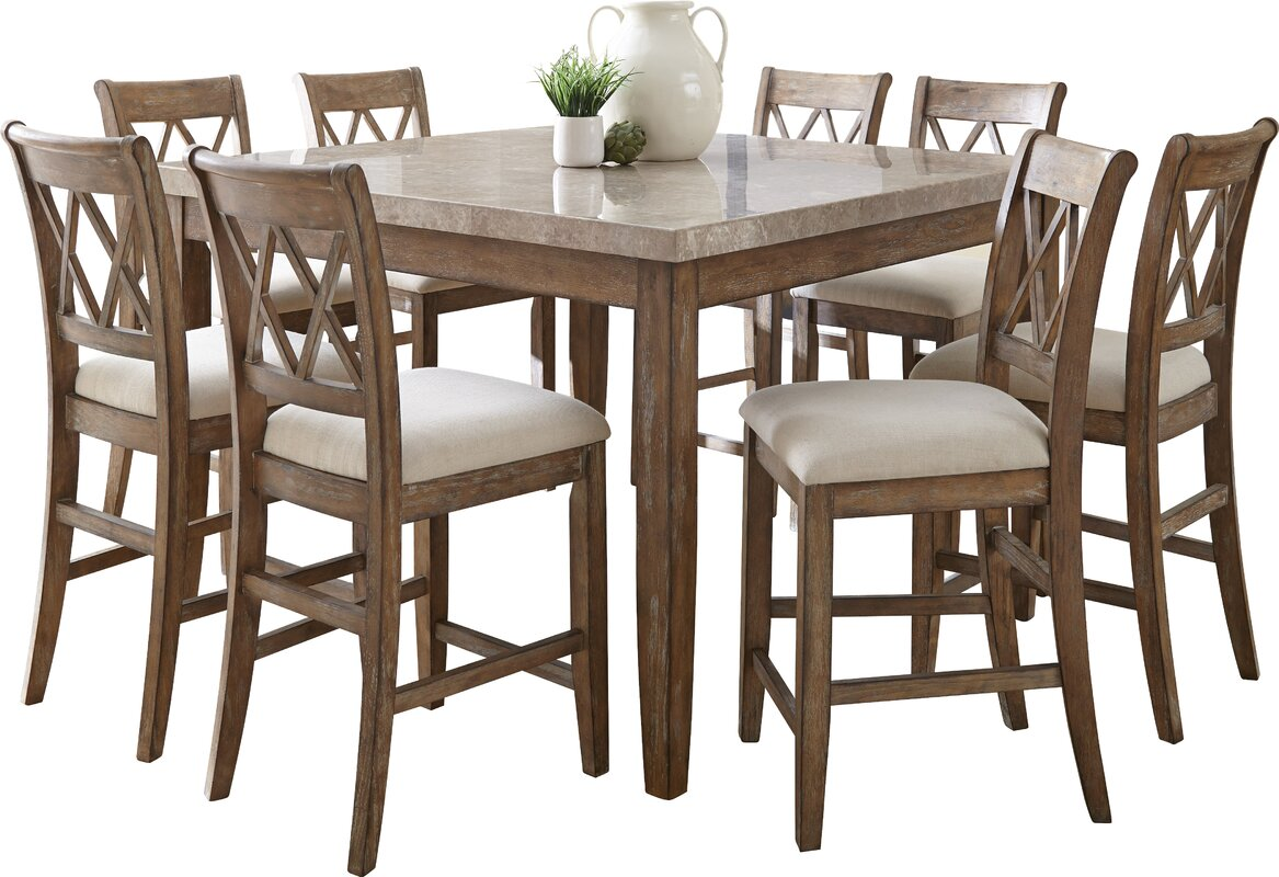 Lark Manor Portneuf Counter Height Dining Table & Reviews | Wayfair