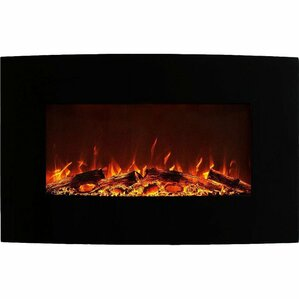 Ebern Designs Middleton Black Wall Mount Electric Fireplace