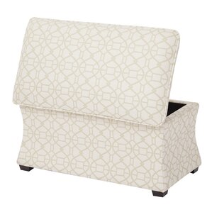Morgan Noah Hourglass Storage Ottoman by Ave Six
