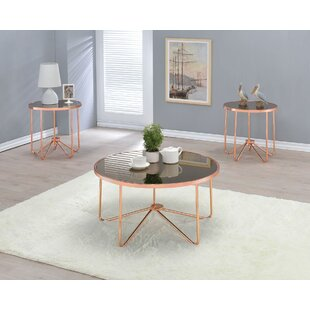 Orren Ellis Talamantez Round Living Room 3 Piece Coffee Table Set