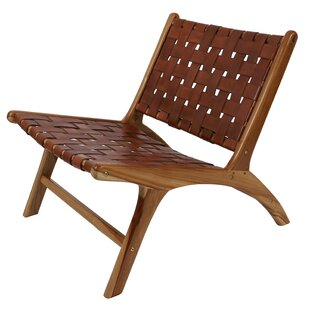 Mancheer Leather Strap Side Chair by Union Rustic