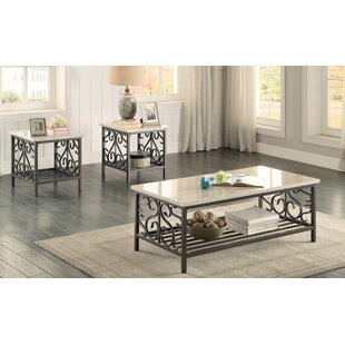 Marable 3 Piece Coffee Table Set