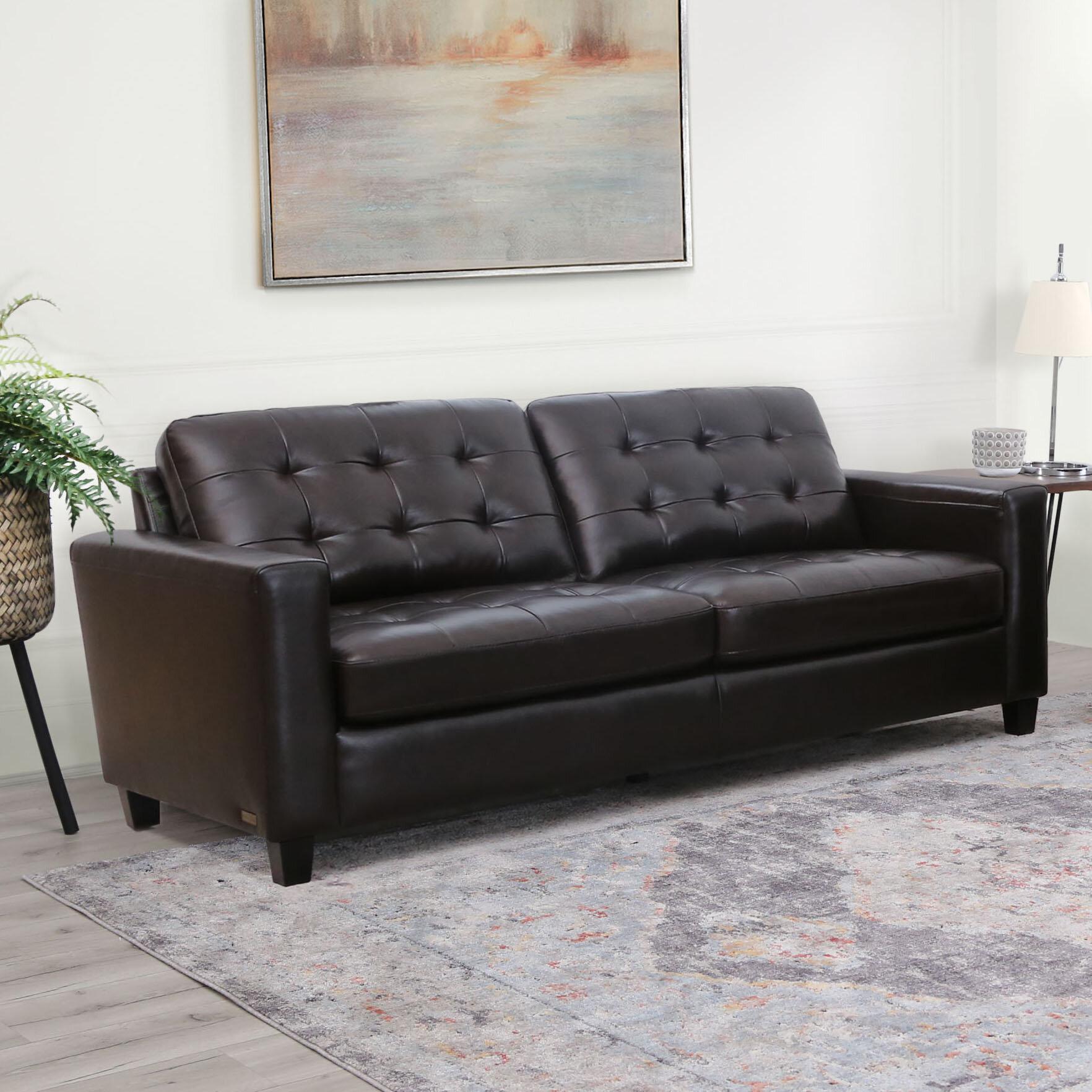 Enjoyable Dion Genuine Leather Sofa Interior Design Ideas Clesiryabchikinfo