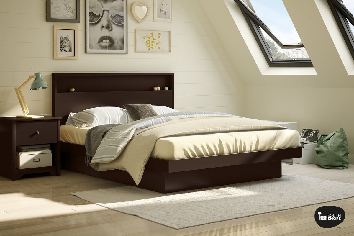 south shore basic queen platform bed  reviews  wayfair - defaultname