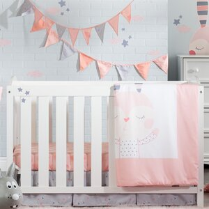 DreamIt Doudou the Rabbit 4 Piece Crib Bedding Set