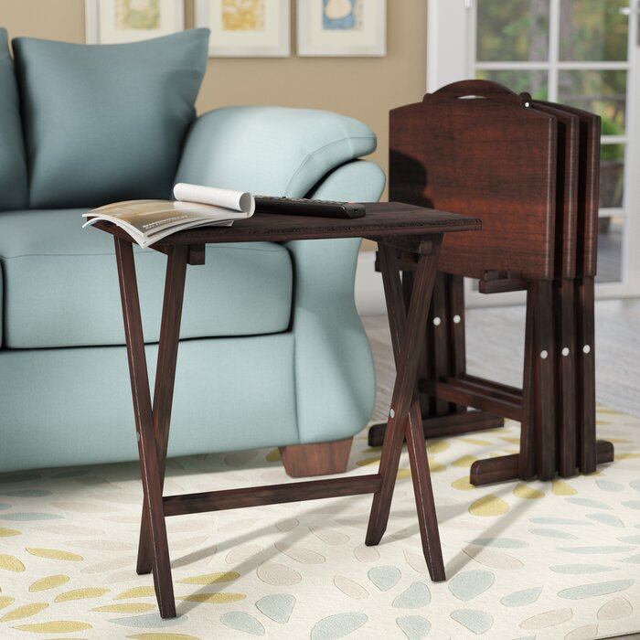 sale retailer 69940 5bacd Alice 4 Piece TV Tray Table Set