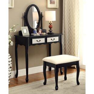 Charlton Home Pleasant Avenue Vanity Set with Mirror