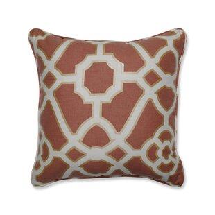 Eulalia Spice Cotton Throw Pillow