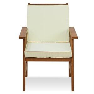 Arianna Outdoor Hardwood Chair with Cushion