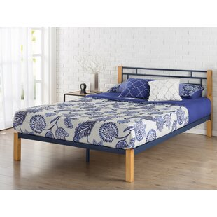 Alexander Metal and Wood Platform Bed