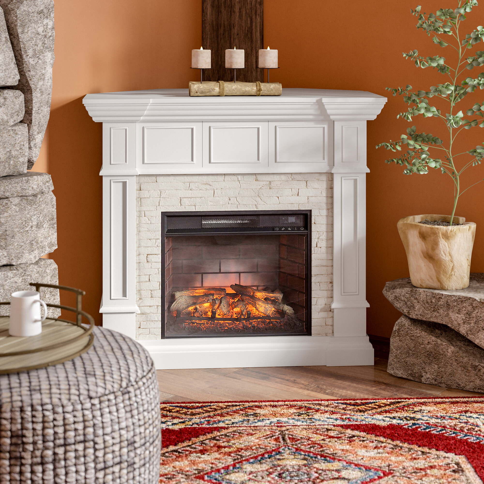 contreras corner convertible infrared electric fireplace reviews rh birchlane com infrared heater corner fireplace corner infrared fireplace