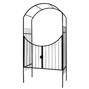 World Source Partners Savannah Steel Arbor with Gate
