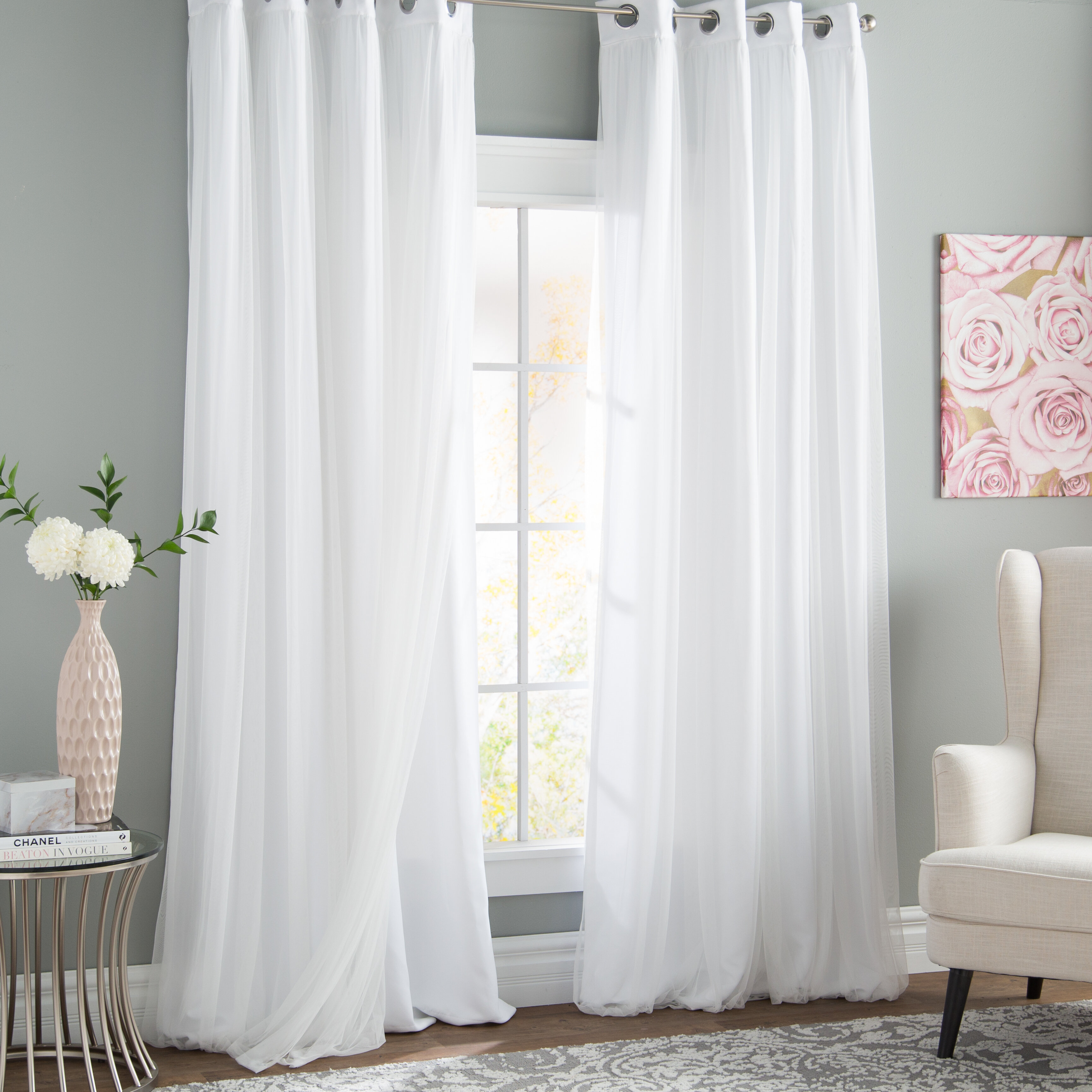 Black White Curtains Drapes Free Shipping Over 35 Wayfair
