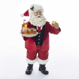 411a972f3ef7a Santa with Whiskey Bottle and Glasses Figurine. by Kurt Adler