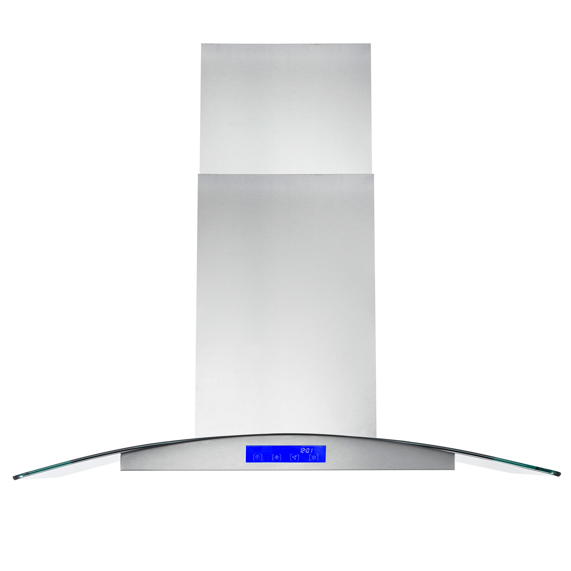 Picture of: Cosmo 36 380 Cfm Ductless Island Range Hood In Stainless Steel Reviews Wayfair