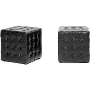 Douglass Circle Cube Ottoman (Set Of 2) By Brayden Studio