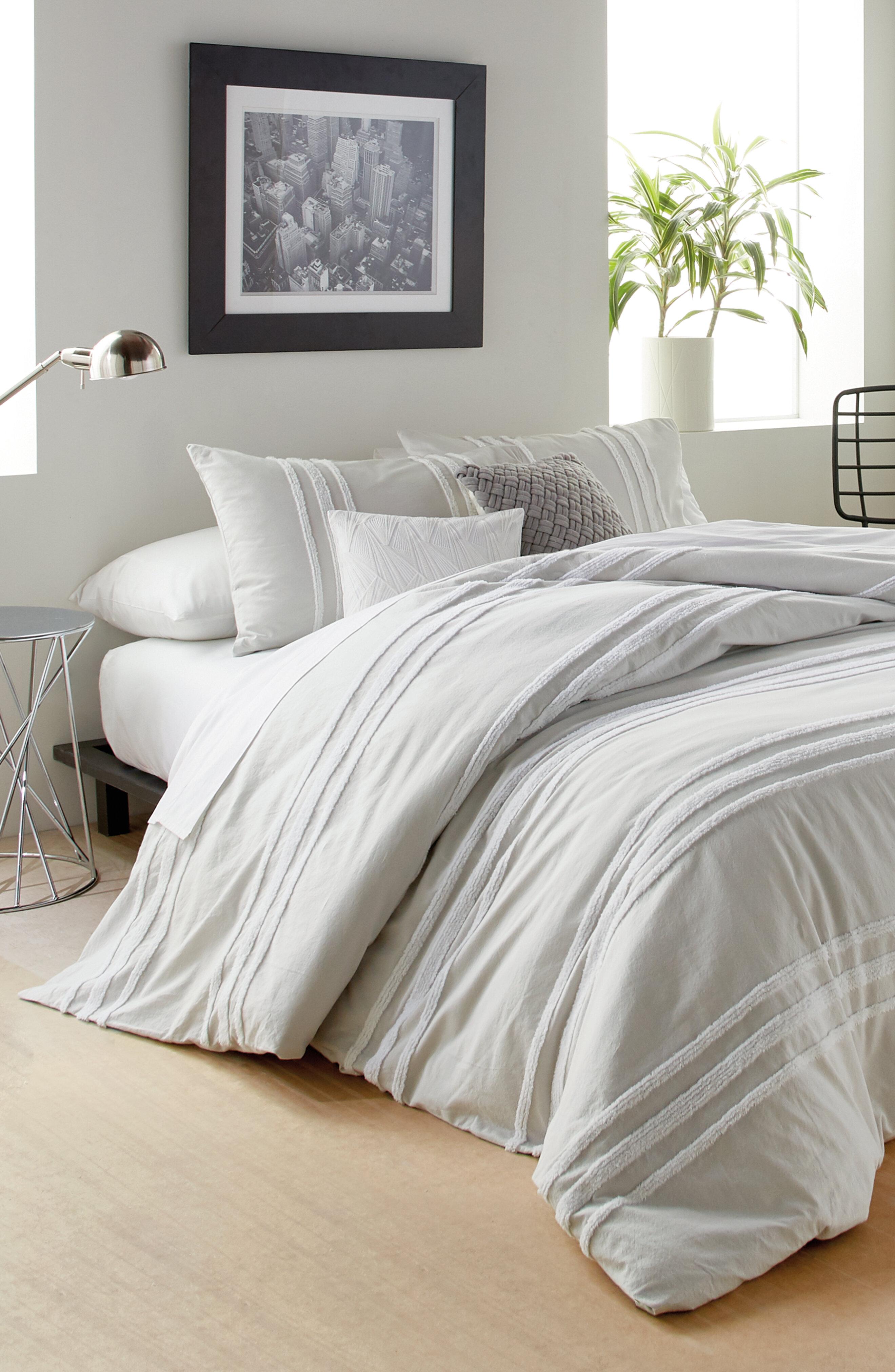 . Chenille Stripe Comforter Set