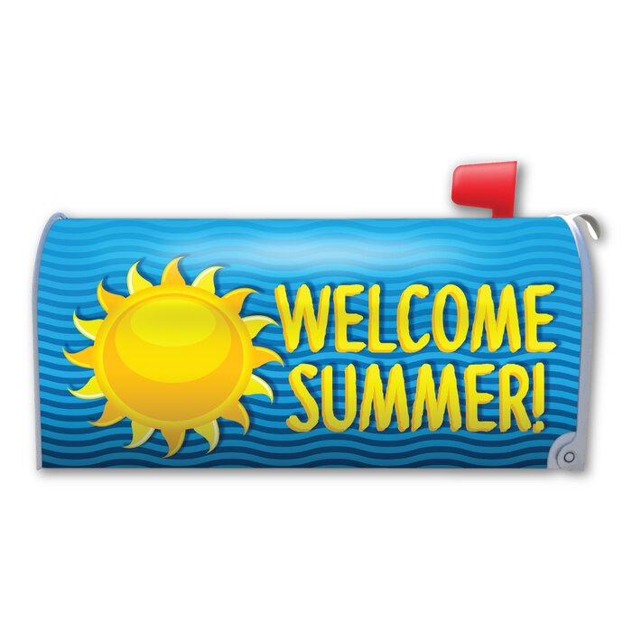 Welcome Summer! Magnetic Mailbox Cover