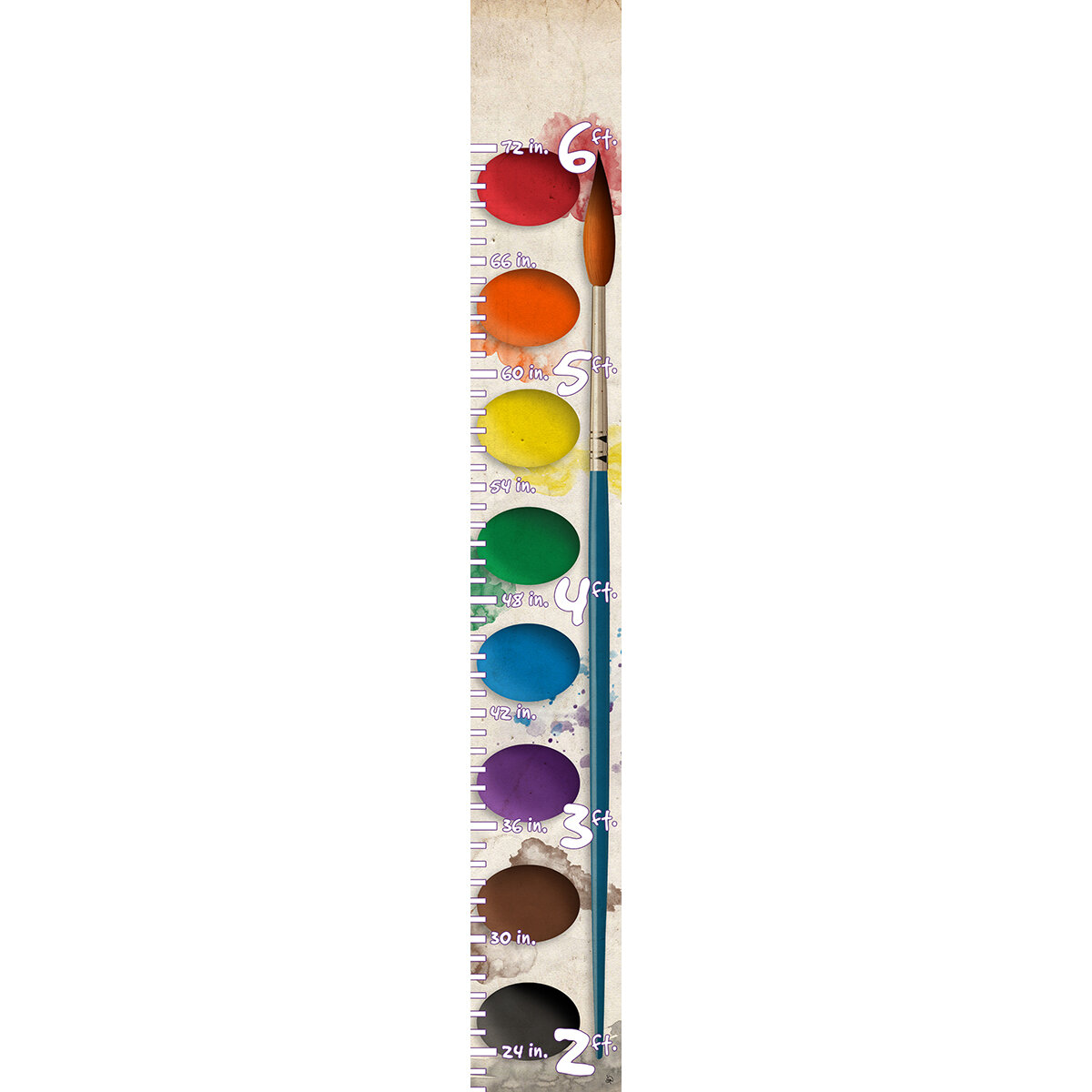 Harriet Bee Pamella Artist S Paint Palette On Abaca Board Personalized Growth Chart Wayfair