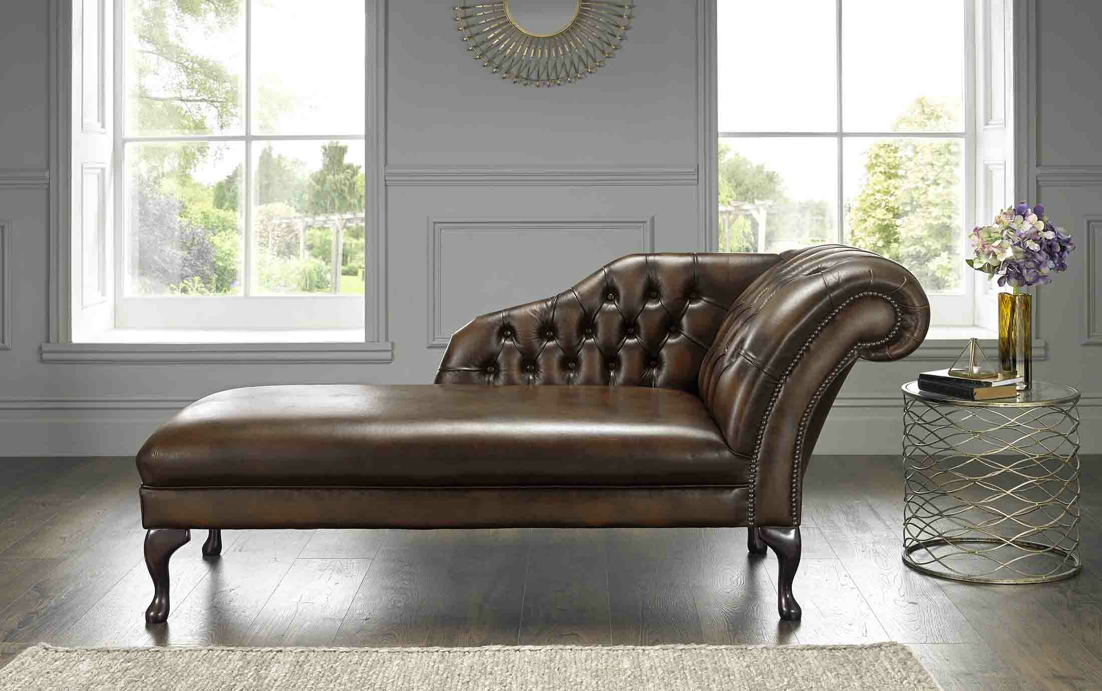 - Astoria Grand Collis Antique Genuine Leather Chaise Lounge