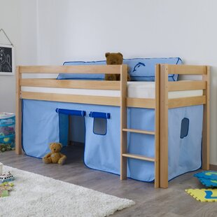 Giordano European Single Mid Sleeper Bed With Curtain By Zoomie Kids