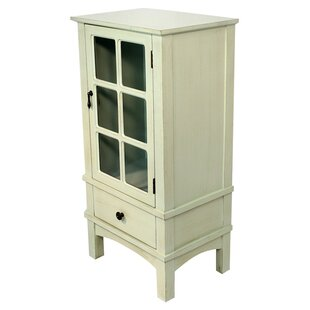 Best Deals Wooden Accent Cabinet with Glass Insert By Heather Ann Creations