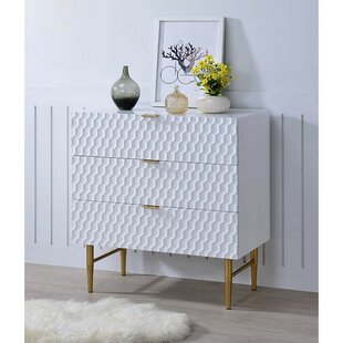 Opheim Wooden 3 Drawer Dresser