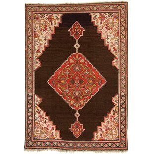Ealing Hand Hooked Cotton Red/Brown/Beige Rug by Rosalind Wheeler