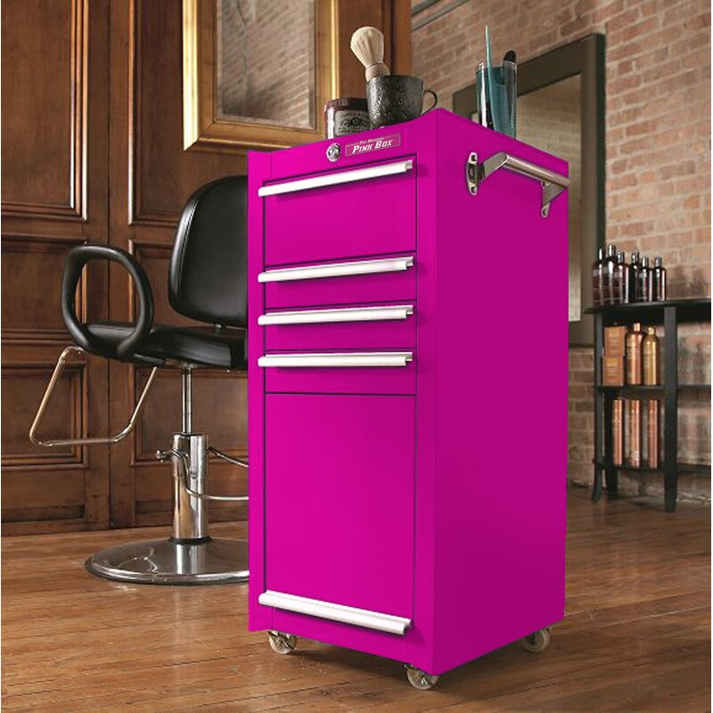 Fine The Original Pink Box 16W 4 Drawer Hair Tool Holder Download Free Architecture Designs Grimeyleaguecom