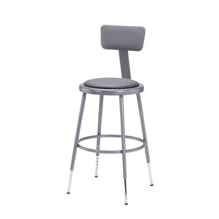 Height Adjustable Stool with Adjustable Backrest