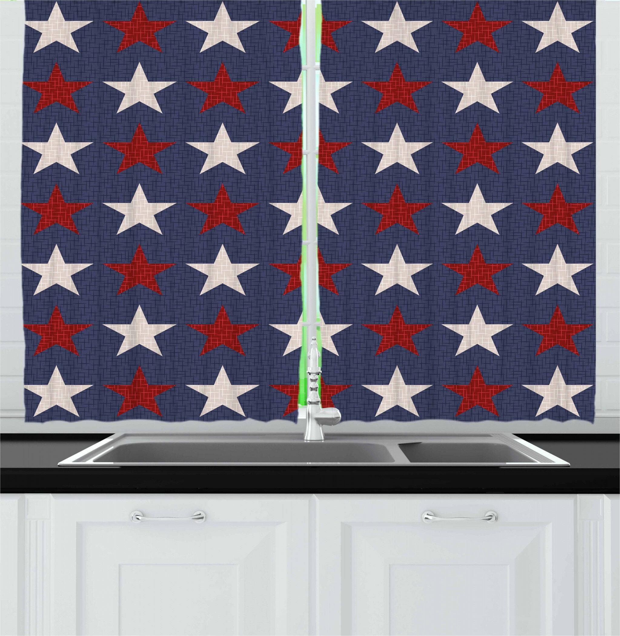 East Urban Home Primitive Country Kitchen Curtain Wayfair