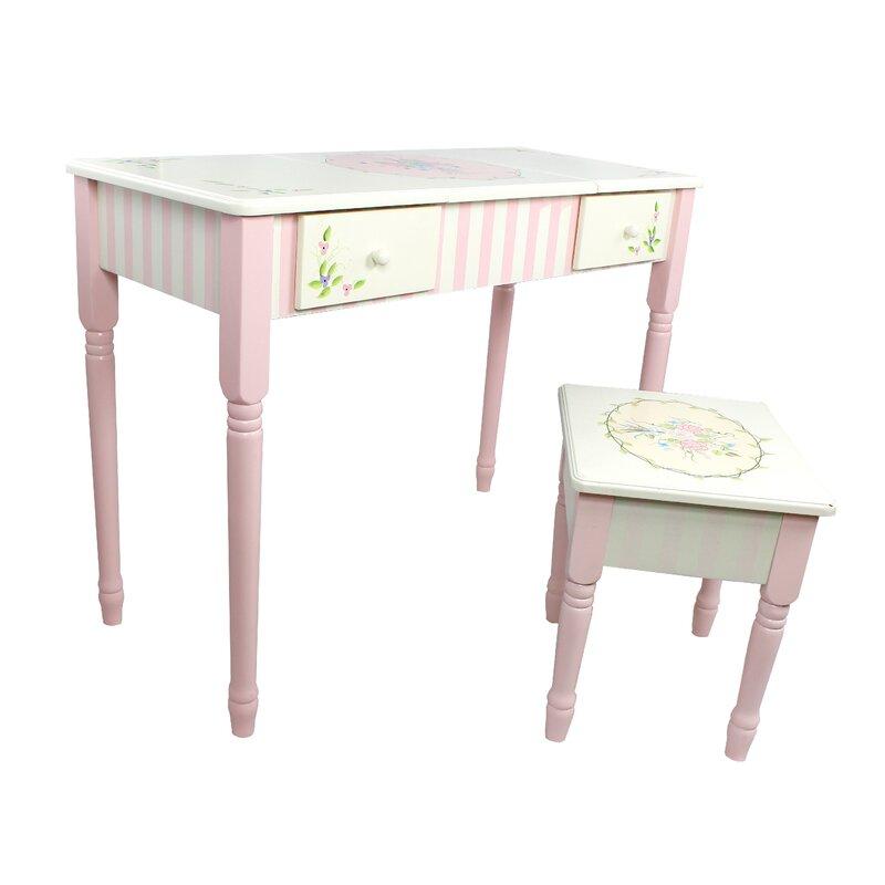 Bouquet Vanity Table Stool Set