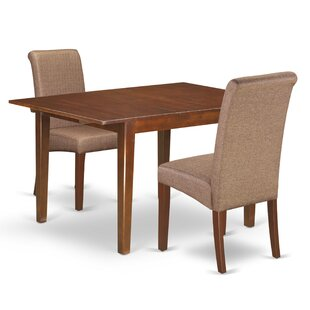 Charity Kitchen Table 3 Piece Counter Height Extendable Solid Wood Dining Set