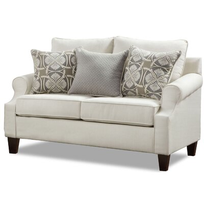 Arispe Loveseat Upholstery Color: Bay Ridge Cream by Darby Home Co