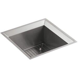 Kohler Poise Under-Mount Bar Sink - Includes Bottom Bowl Rack and Cutting Board
