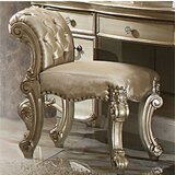 Troutman Fabric Upholstered Wooden Vanity Stool by Astoria Grand