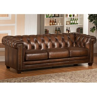 Dusty Leather Chesterfield Sofa