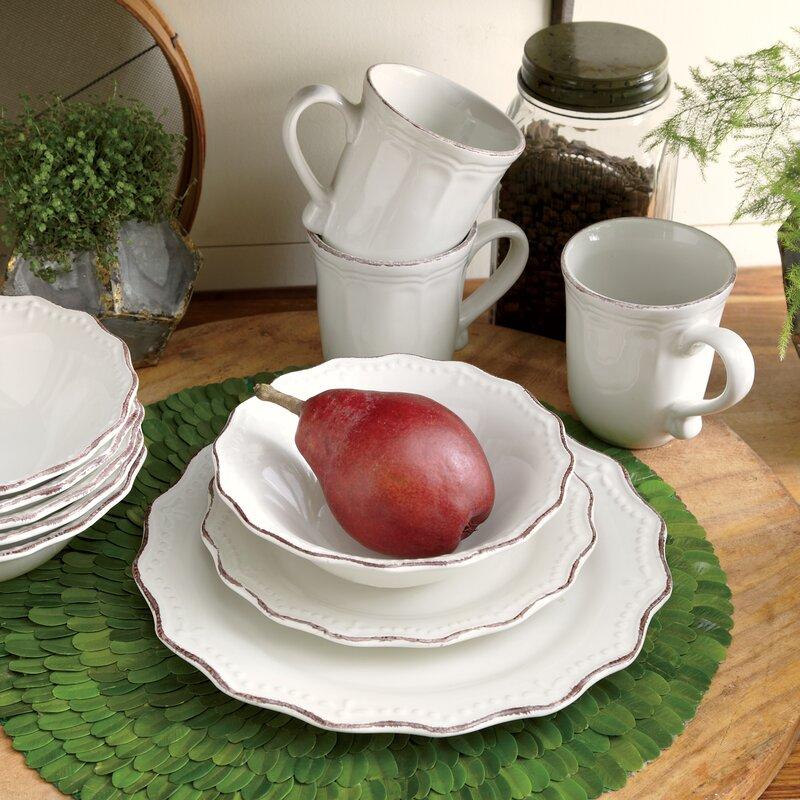 Celeste 24 Piece Dinnerware Set Service for 6 & Birch Lane™ Celeste 24 Piece Dinnerware Set Service for 6 \u0026 Reviews ...