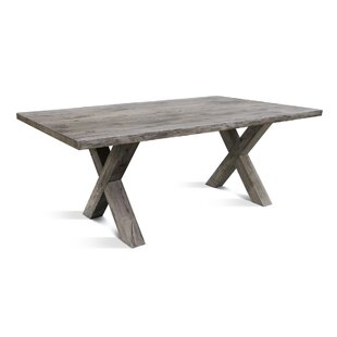 Glynis X Solid Wood Dining Table by Gracie Oaks