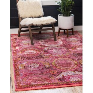 Lonerock Pink Area Rug by Bungalow Rose