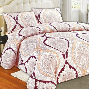 Randle Polyster 3 Piece Reversible Duvet Cover Set