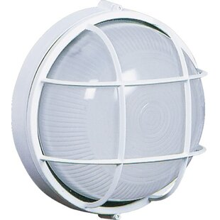 Coupon Munson 1-Light Outdoor Bulkhead Light By Breakwater Bay