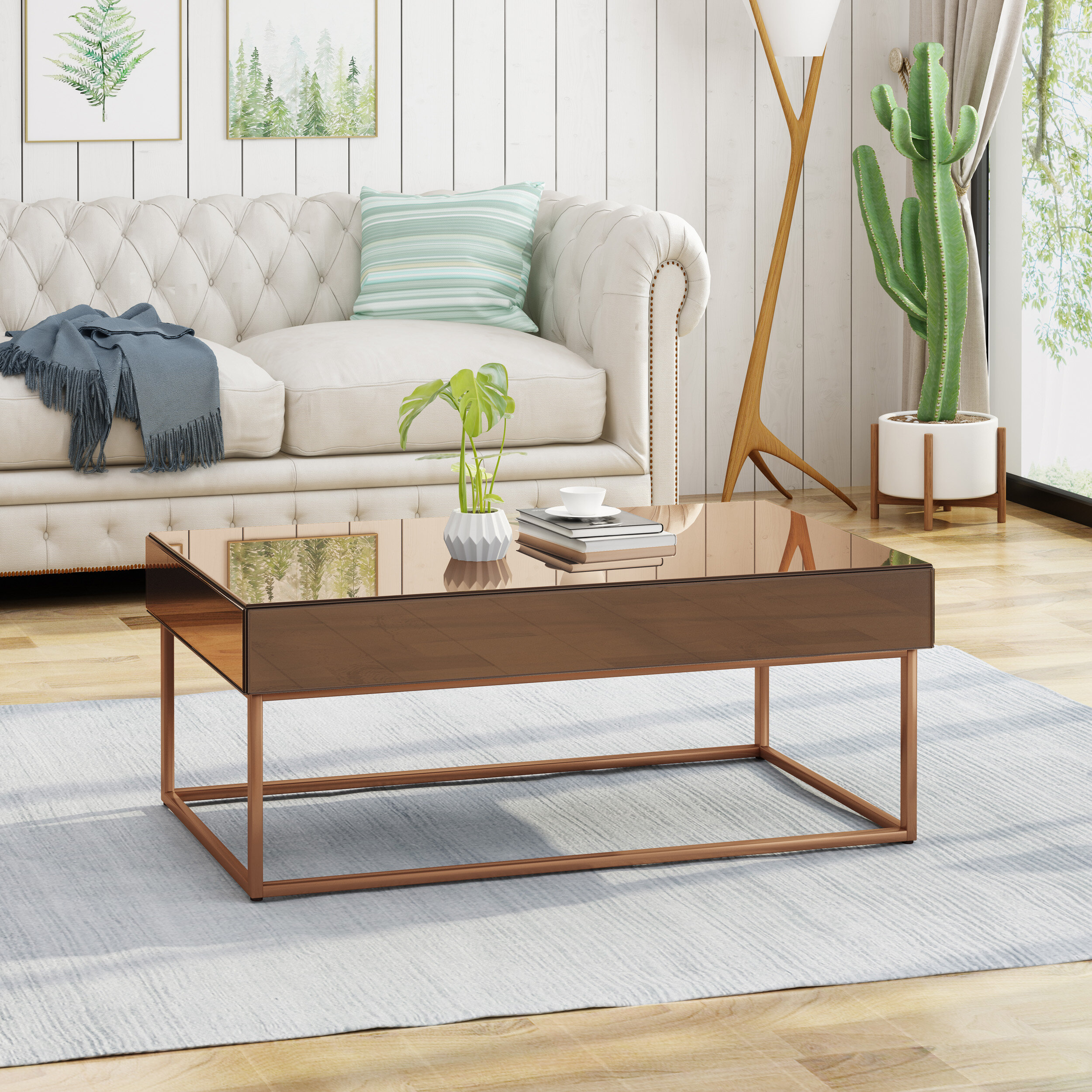 Wrought Studio Mcchristian Modern Glam Coffee Table With Storage
