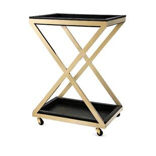 Yaretzi Stainless Steel Bar Cart by Everly Quinn